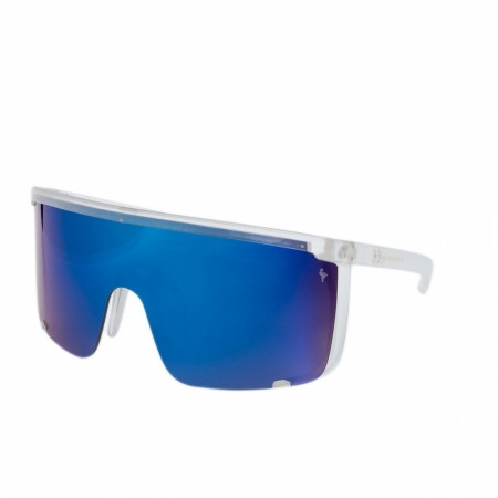 Oversized Shades - Miami Vibes - Transparent - Blue Mirror